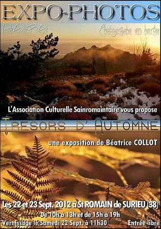 EXPOSITION PHOTO BEATRICE COLLOT