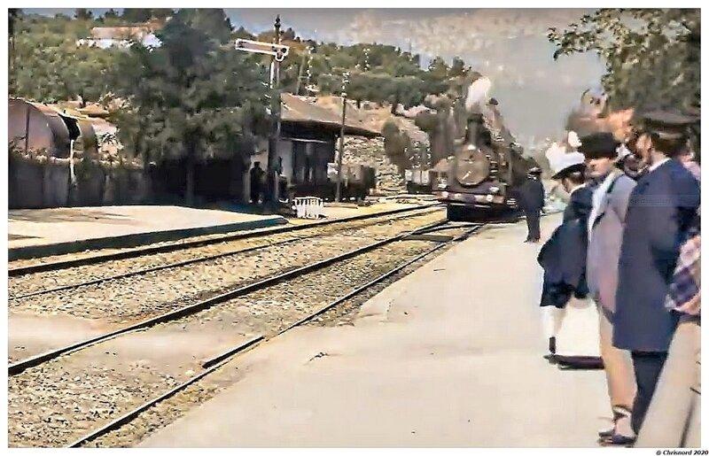 Arrivée d'un train à La Ciotat en 1896