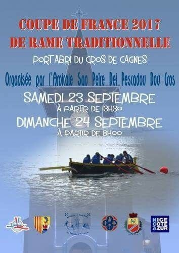 RAME TRADITIONNELLE - CONVOCATION Pour le 16 septembre 2017 - Coupe de france + tirage