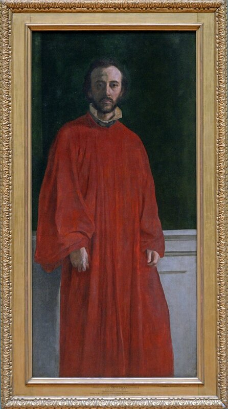 George Frederic Watts, Self Portrait in a Red Robe, about 1853