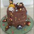 Gâteau tronc d'arbre de Pâques