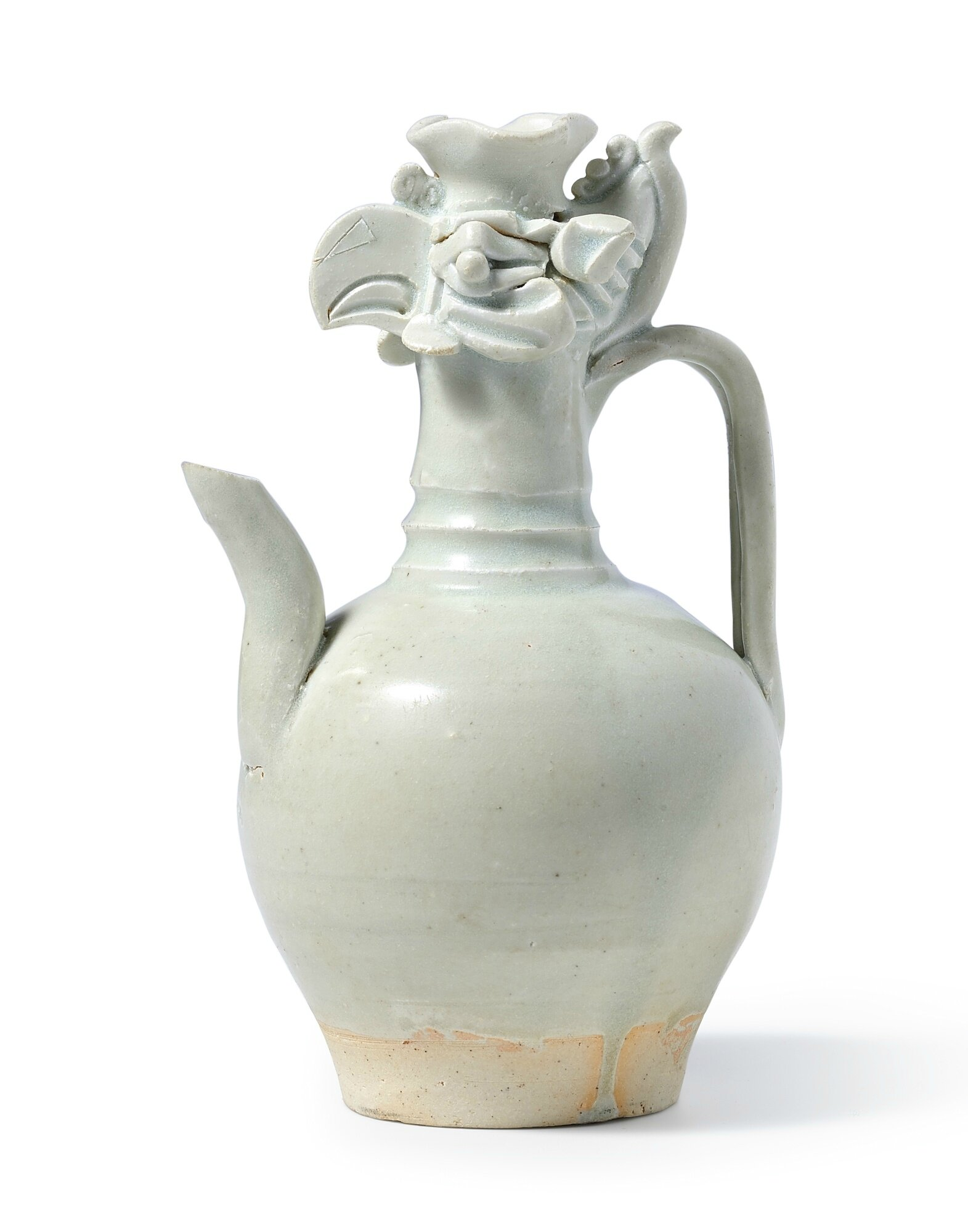 A rare Qingbai 'Phoenix-head' ewer, Northern Song dynasty (960-1179