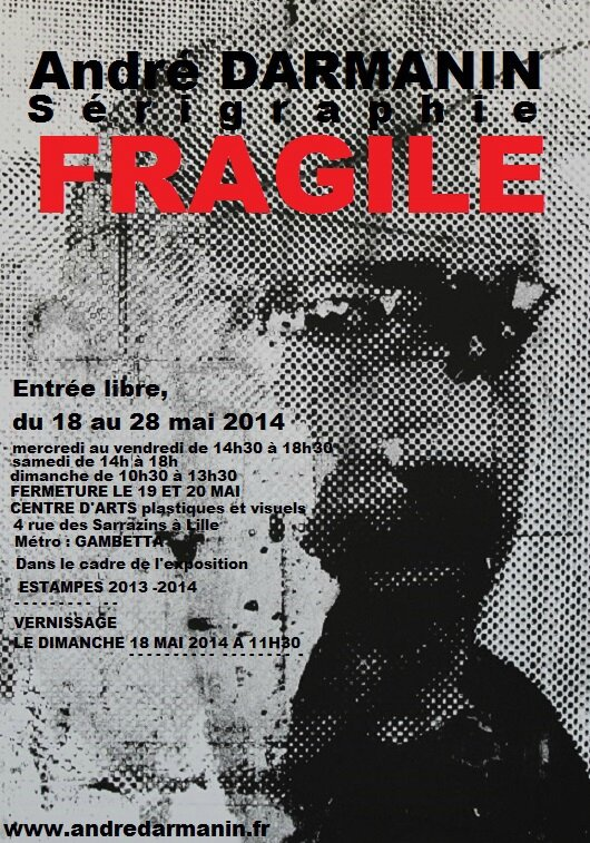 Fragile - Mai 2014 - Centre d'Art de Lille