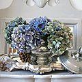Hydrangeas bleus