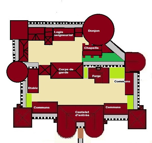 plan chateau Forge du loup Copie