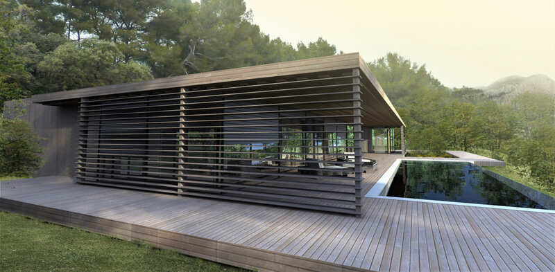 Architecte maison contemporaine bois à Saint Rémy de Provence