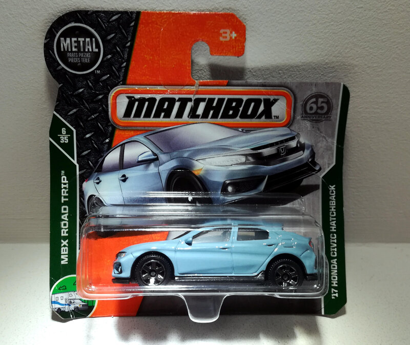 Honda Civic Hatchback de 2017 (Matchbox)