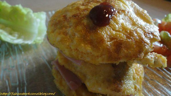 Omelette Burger jambon-kiri (9)