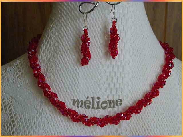 spirale rouge cristal de bohème