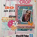 Crop organisée par l'association soir & scrap
