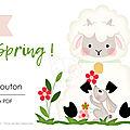 Créations printanières - sac & poupée mouton