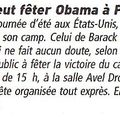 Obama party 9/11 - revue de presse