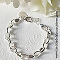1. Support : bracelet chaîne Kelly en argent 925 - 52 € le bracelet seul