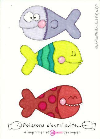 poissons d'avril à imprimer suite