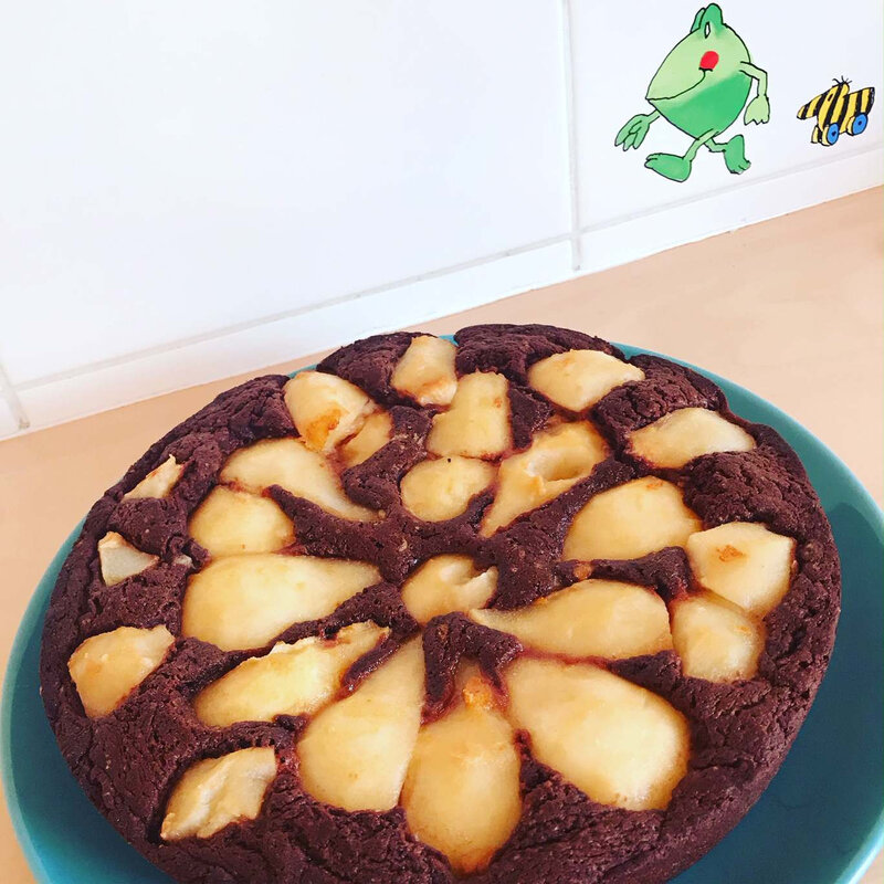 Gâteau chocolat-poires ©Kid Friendly
