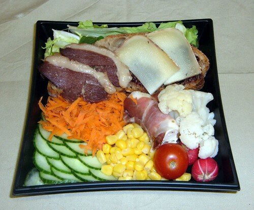 salade composée avec magret