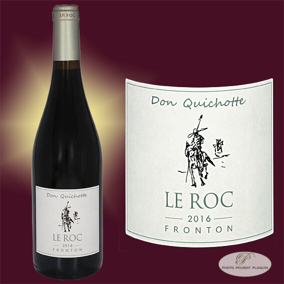 FRONTON_Domaine_LE_ROC_Don_Quichotte_bouteille_et_etiquette