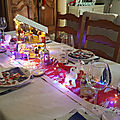 Decoration table de noel : l'atelier du pere noel