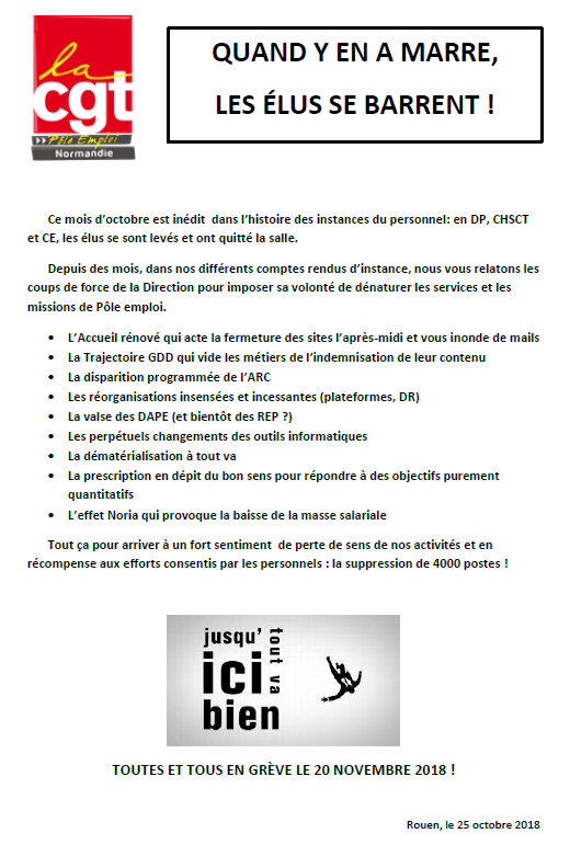 Tract CE 25 octobre 2018