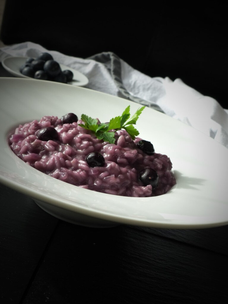 Risotto aux myrtilles (risotto ai mirtilli)