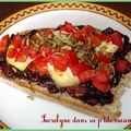 Tartine sucrée/salée figue, chèvre et tomate par lorijade