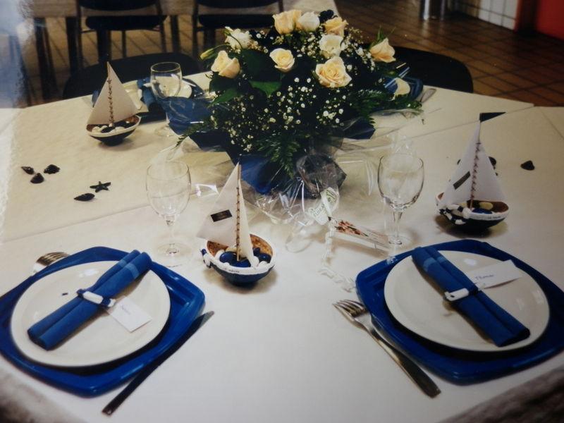 Table La Mer Blanc Et Bleu Les Creations Deco De Marsouille