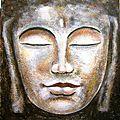 Portraits de bouddha sur support texturé.