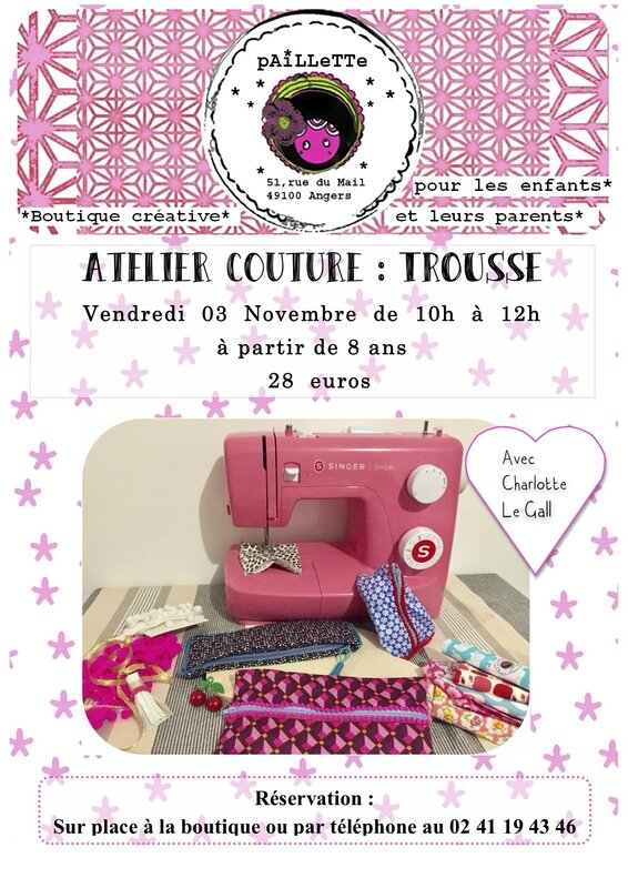 Atelier 4 couture trousse