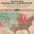 Usa 1856 : free and slave states