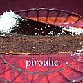 Fondant au chocolat recouvert de ganache