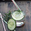 Limonade de concombre et romarin
