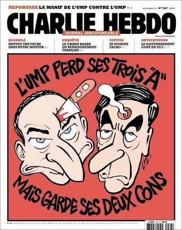 Copé, Fillon, Les Unes de Charlie Hebdo, UMP, élections une 1067