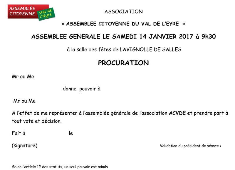 2017-01-14 PROCURATION AG