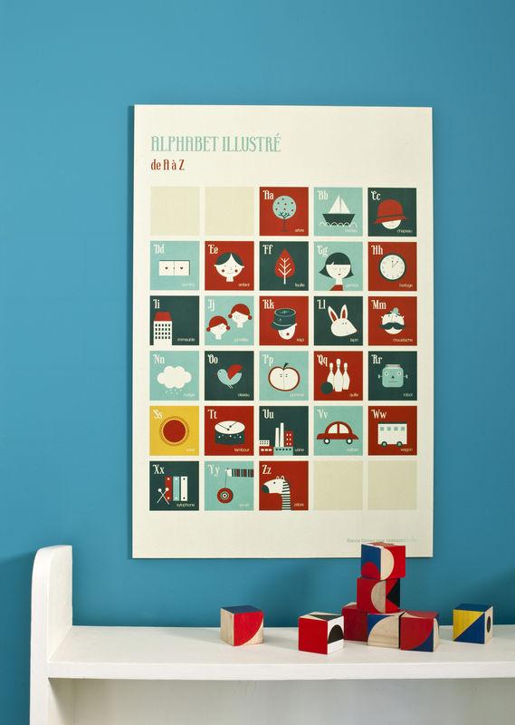Affiche chambre d'enfant - Alphabet Rétro - Blanca Gomez - Poiss