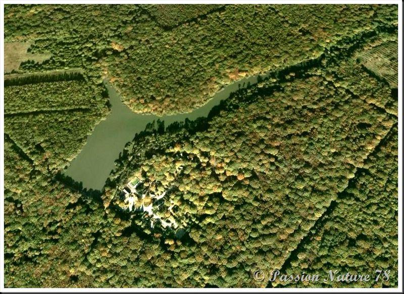 L'etang d'or via Google Earth