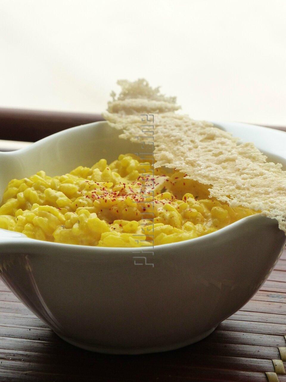 Riz crémeux au safran et au mascarpone façon risotto