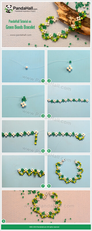4-PandaHall-Tutorial-on-Green-Beads-Bracelet