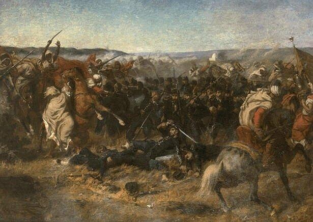 Bataille de Sidi Brahim 26 septembre 1845Par Louis Théodore Devilly (dead 1886)