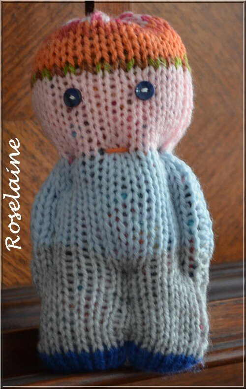 Roselaine 96 doudou tricot