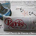 Grille Paris brodée par Marie-Claude