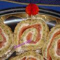 Biscuit roulé au saumon