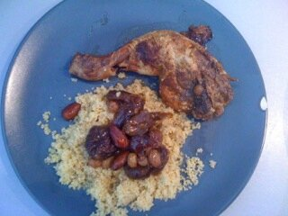 tajine poulet fruits secs