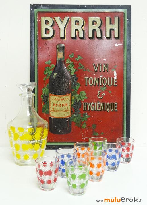 SERVICE-LIQUEUR-coloré-3-BYRRH-Plaque-muluBrok-Vintage