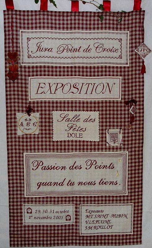 Affiche brodée pour l'expo 2005 de JPC
