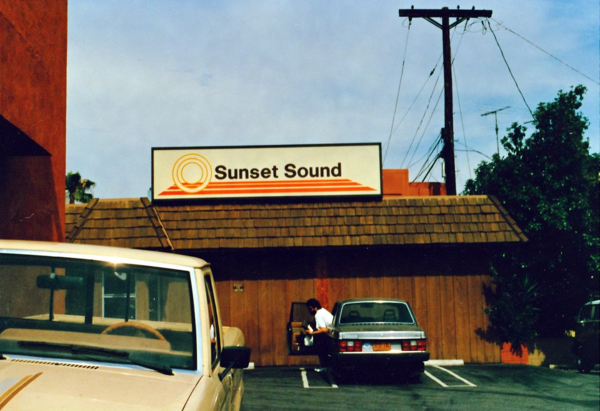 Sunset Sound Studios at 6650 Sunset Boulevard in Hollywood in 1987