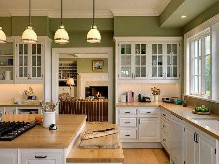 peinture-cuisine-avec-meubles-blancs-30-idees-inspirantes-inside-cuisine-vert-olive