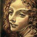 Vierge des marais - huile sur toile - 35/27 cm