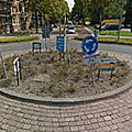 Rond-point à rotterdam (pays-bas)