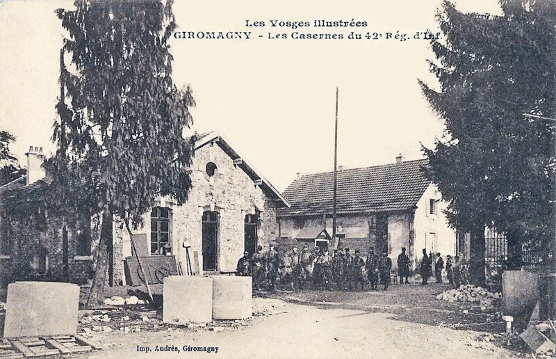CPA Giromagny Caserne 42e RI