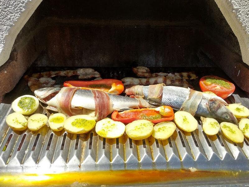 Loup de ligne au barbecue à la sauce persillade1